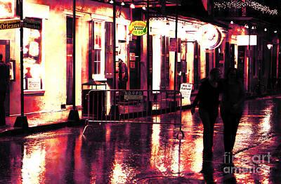 French Street Scene Digital Art - Friends On Bourbon Street by John Rizzuto