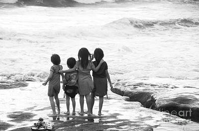 Photograph - Friends On The Beach by Charuhas Images