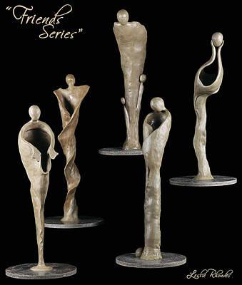 Sculpture - Friends Series by Leslie Rhoades