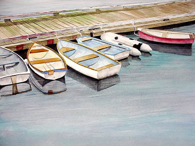 Dingy Painting - Friends by Stephen Abbott