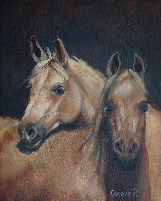 Painting - Friends by Synnove Pettersen