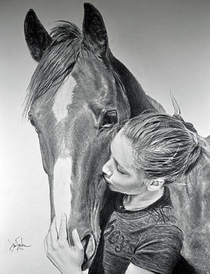 Drawing - Friends - Taylor And Dolly by James Foster