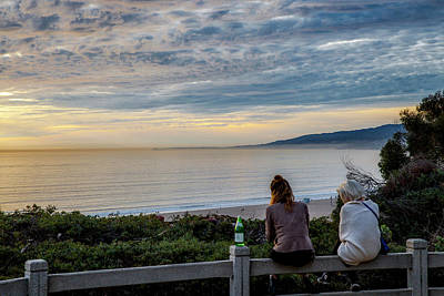 Photograph - Friends Watching The Sunset by Gene Parks