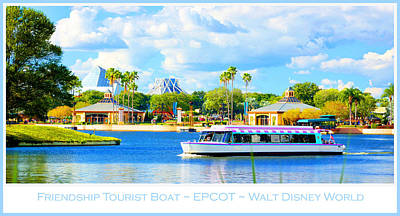 Friendship Boat On The Lagoon Epcot Walt Disney World Art Print