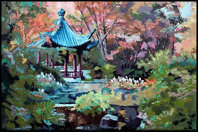 Painting - Friendship Garden by John Lautermilch
