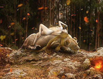 Digital Art - Friendship II by Karin Claesson