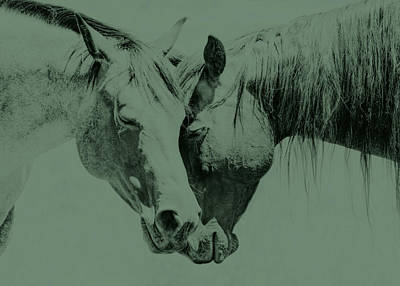 Photograph - Friendship Of Horses Green by Jennie Marie Schell