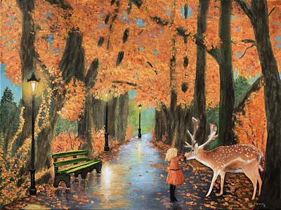 Country Painting - Friendship On A Lonely Road by Ken Figurski