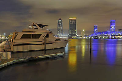 Photograph - Friendship Park Marina - Jacksonville Florida - Skyline by Jason Politte