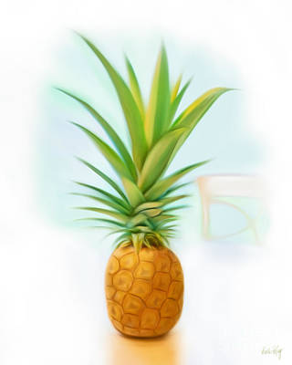 Linda King Digital Art - Friendship Pineapple by Linda King