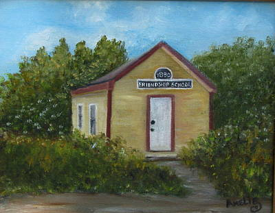 . Pinelands Painting - Friendship School by Amelie Gates