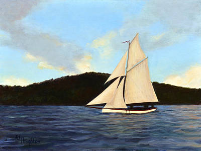 Friendship Sloop Original by RJ Houghton