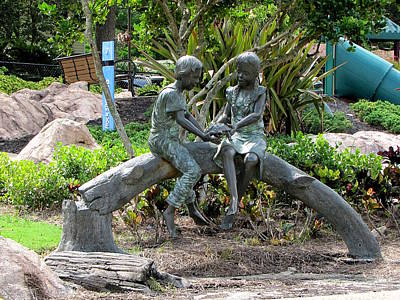 Photograph - Friendship Statue  by Chris Mercer