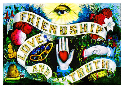 Digital Art - Friendship - Vintage Poster by Asok Mukhopadhyay
