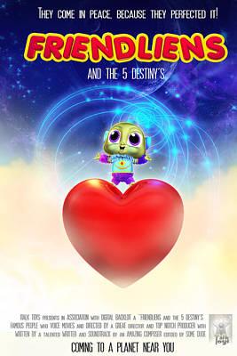Digital Art - Frienliens 5 Destiny Movie Poster by Joel Payne