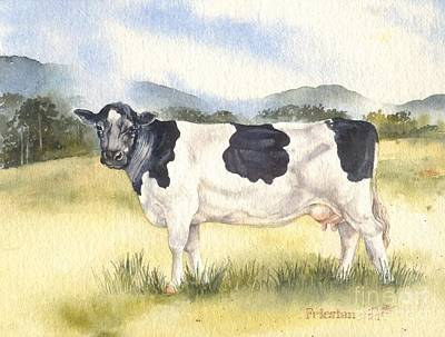 Friesian Cow Art Print by Sandra Phryce-Jones