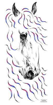 Drawing - Friesian Horse Nobility by Kelli Swan