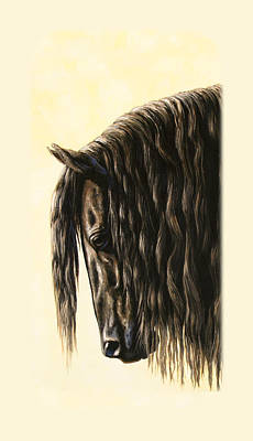 Friesian Horse Phone Case Art Print by Crista Forest