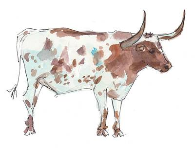 Painting - Friesien The Bull by Kathleen McElwaine