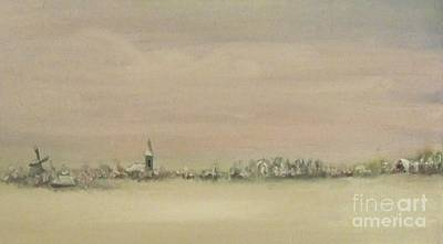 Painting - Friesland Under Snow by Annemeet Hasidi- van der Leij