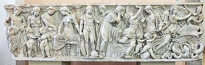 Photograph - Frieze With The Story Of Medea by Patricia Hofmeester