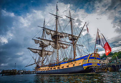 Photograph - Frigate Hermione 01 by Fred LeBlanc