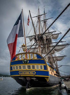 Photograph - Frigate Hermione 04 by Fred LeBlanc