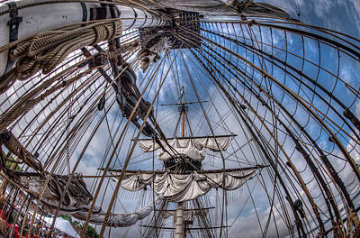 Photograph - Frigate Hermione 05 by Fred LeBlanc