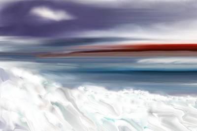 Digital Art - Frigid Day by David Lane