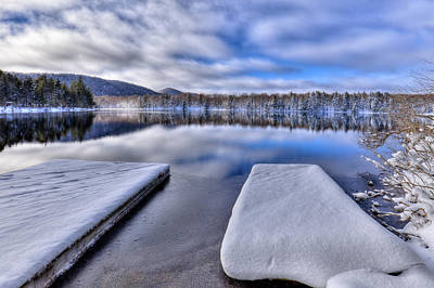 Photograph - Frigid Morning On West Lake by David Patterson