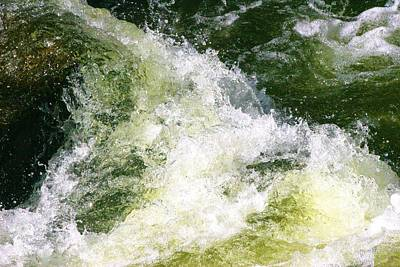 Photograph - Frigid Fast Moving Water by Polly Castor