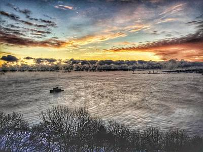 Photograph - Frigid Sunrise On Casco Bay by Patricia E Sundik