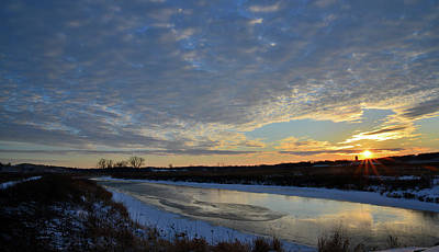 Photograph - Frigid Sunset In Glacial Park by Ray Mathis