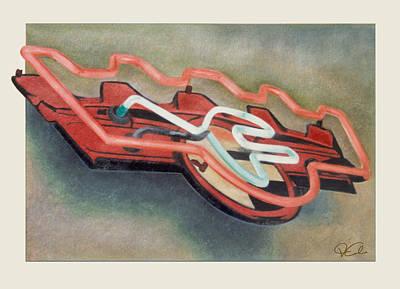 Frigidaire Art Print by Van Cordle