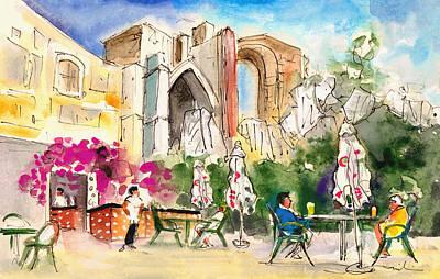 Travel Sketch Drawing - Frigiliana 02 by Miki De Goodaboom