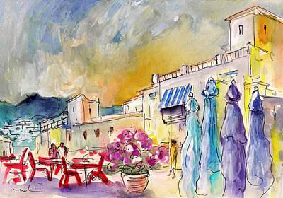 Thunder Painting - Frigiliana 03 by Miki De Goodaboom