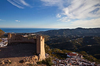 Biege Photograph - Frigiliana From El Fuerte De by Panoramic Images