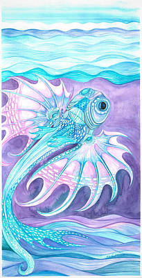 Painting - Frilled Fish by Adria Trail