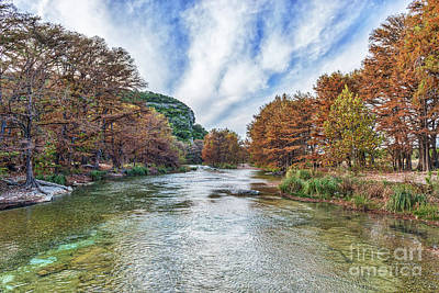 Fall Scene Photograph - Frio River Con Can by Tod and Cynthia Grubbs