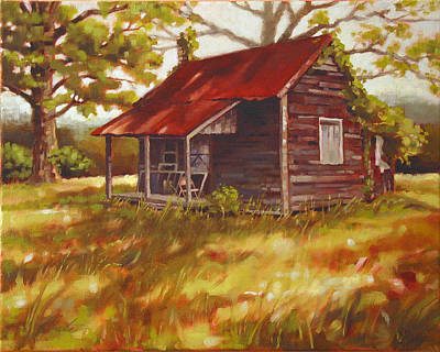 Shed Painting - Fripp Farm by Todd Baxter