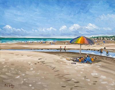 Oceanscape Painting - Fripp Island Beach by Erik Schutzman