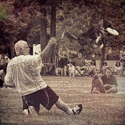 Photograph - Frisbee Catcher by Lewis Mann