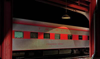 Train Photograph - Frisco Cimarron River Train Car by Larry Jost