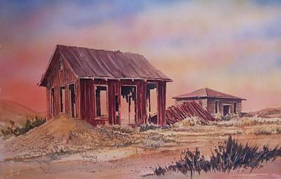 Painting - Frisco Ghost Town Utah by Kevin Heaney