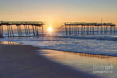 Photograph - Frisco Pier At Sunrise by Laurinda Bowling
