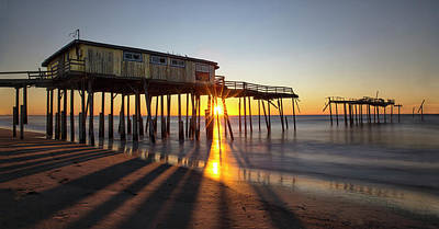 Photograph - Frisco Pier Sunrise by Art Cole