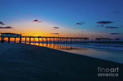 Photograph - Frisco Pier Sunrise Outer Banks North Carolina by Dan Carmichael