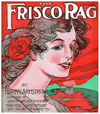 Song Book Photograph - Frisco Rag Music Cover 1910 by Daniel Hagerman