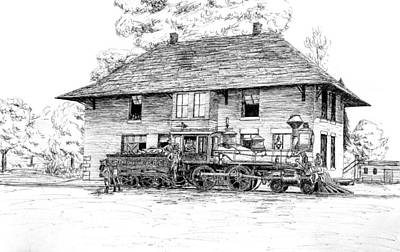 Frisco Station And Bentonville Rr Engine Original