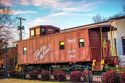 Photograph - Frisco Train Boxcar - Downtown Bentonville Arkansas by Gregory Ballos